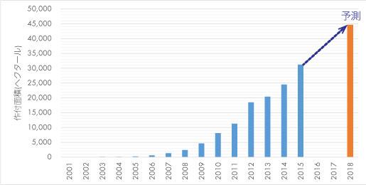 中国でのブルーベリー生産統計