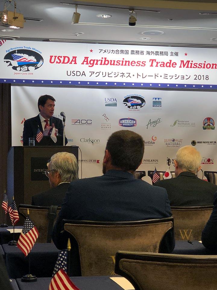 日本大使ウィリアム・ハガティ氏の挨拶