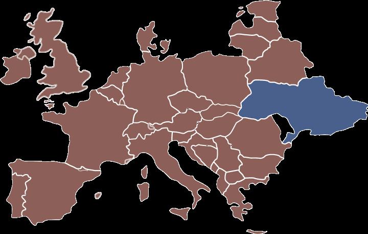 ウクライナの位置